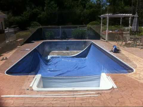 how to properly install an in ground vinyl swimming pool liner by in waterbury