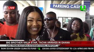 Titans and Management of Despite Media welcome Symply Tacha  to Ghana