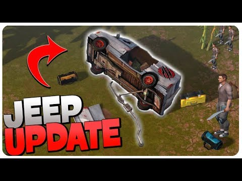 JEEP UPDATE NEWS n' BUILDING a PRISON! - Jurassic Survival Gameplay Android