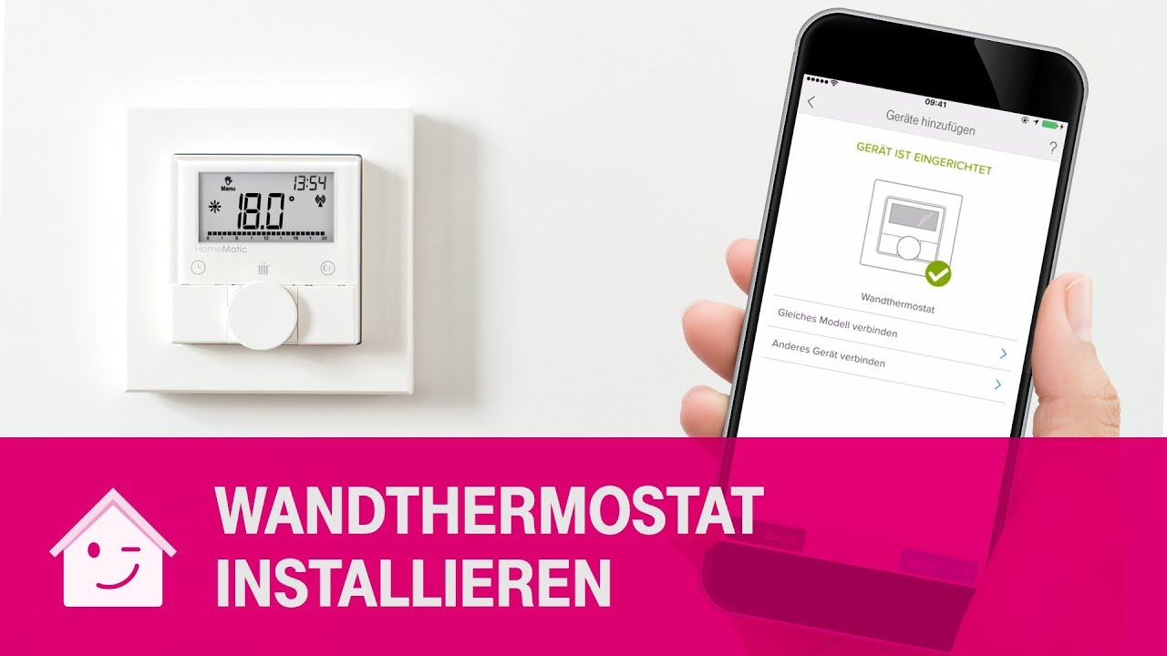 Wandthermostat Telekom Magenta Smarthome Youtube