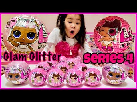 lol-surprise-series-4-lil-sisters-&-glam-glitter-series-unboxing!-we-got-them!-decoder-|-eye-spy