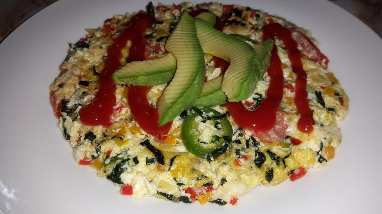 Como hacer omelet de verduras