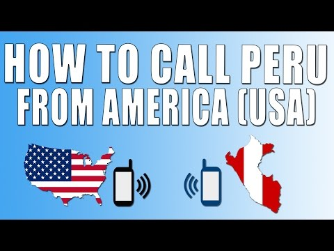 How To Call Peru From America (USA)