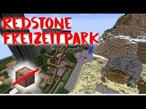 Redstone Freizeitpark in Minecraft - Update: Jetzt mit Wasserbahn!