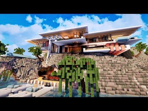 Yacht sous terrain avec villa de luxe sur minecraft youtube for Plan villa moderne de luxe