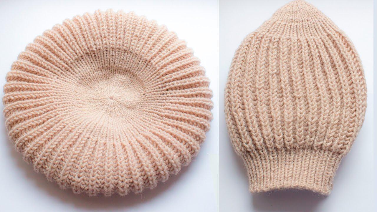 HOW TO KNIT EASY RIBBED HAT Fisherman s Rib English Rib Wika crochet ... ebc54c5159d
