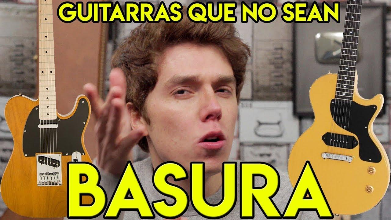 7 guitarras el ctricas baratas que no son basura youtube for Guitarras electricas baratas
