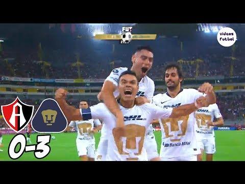 Atlas vs Pumas 0-3 Resumen Completo Liga MX Jornada 3 2018