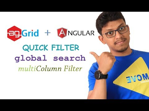 agGrid + angular: quick filter, global search, multi column filter