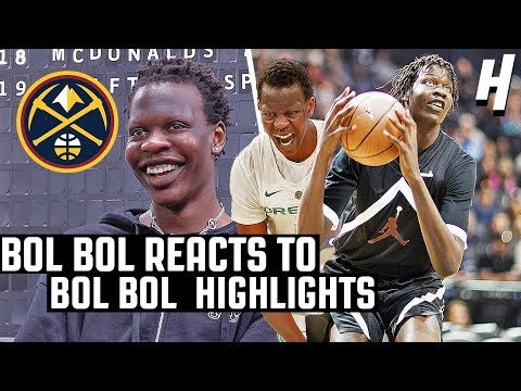 Bol Bol Reacts To Bol Bol Highlights! | DENVER NUGGETS 44TH OVERALL PICK