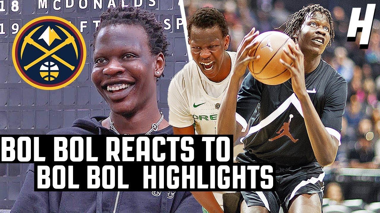 Bol Bol Reacts To Bol Bol Highlights! | The Reel