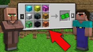 Minecraft NOOB vs PRO: WHY DOES THIS VILLAGER SELL ALL RAREST CHESTS FOR 1$? Challenge 100% trolling