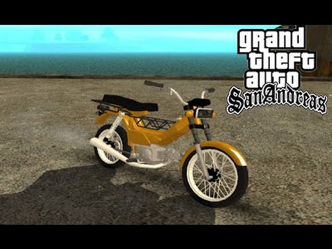 GTA SA MODS - Shineray  XY50Q Fuga Na Poliçia ! Em Primeira Pessoa .