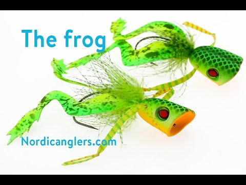 Fly Tying Instruction On How To Tie The Pike Popper Frog