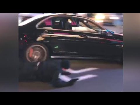 Download Youtube: Dramatic Video Shows Cop Getting Hit By Driver, Then Chasing Car on Foot