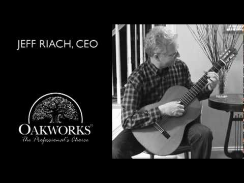 Jeff Riach, CEO of Oakworks Playing Guitar