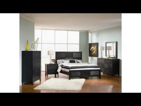 Cheap King Size Bedroom Sets  Meets The Description  Bedroom Set With Wood Grain In Black Finish