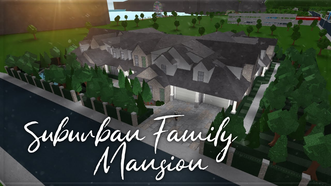 Roblox Welcome To Bloxburg Suburban Family Mansion