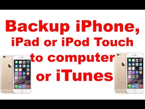 Back up iphone 6 6 plus 5 5s 5c 4s ipad ipod touch to computer