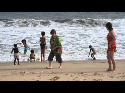 West Africa travel. Trip to Nigeria. Lagos shore.