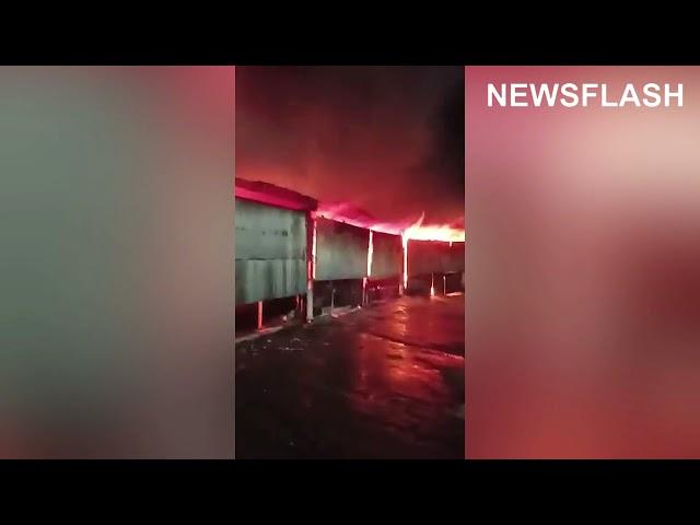 Firefighters Tackle El Salvador Market Blaze