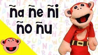 Silabas ña ñe ñi ño ñu   El Mono Silabo   Videos Infantiles   Educacion para Niños