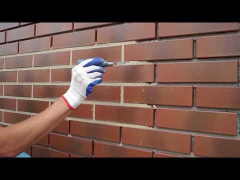 Quick-mix  Затирка швов кирпичной кладки! grouting of brickwork!