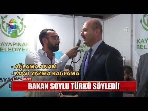 Bakan Soylu Türkü Söyledi!