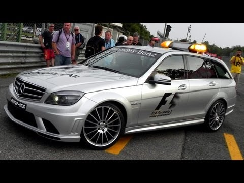 Mercedes Benz C63 AMG Station Wagon Safety Car AWESOME SOUND