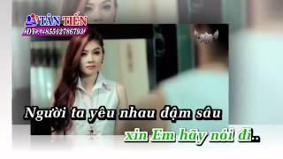 Karaoke HD Câu Hỏi Em Chưa Trả Lời Tại Vì Sao Lấm Chấn Khang Full Beat