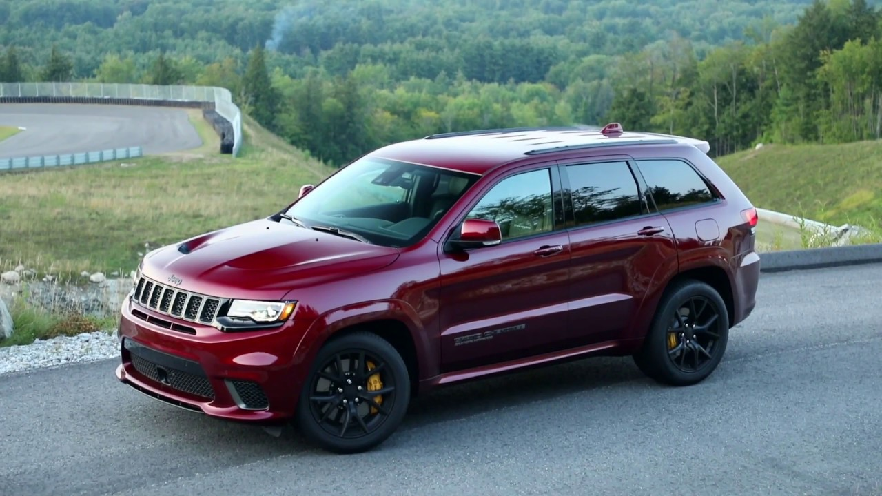 2018 Jeep Grand Cherokee Trackhawk Design in Red - YouTube