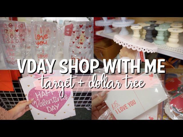 DOLLAR TREE & TARGET DOLLAR SPOT SHOP WITH ME | VALENTINE'S DAY DECOR 2020