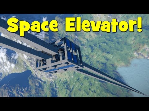 Space Engineers - Solar Powered Space Elevator / Orbital Tether (And An Automated Version)
