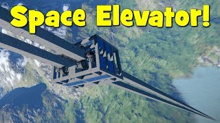 Space Engineers - Solar Powered Space Elevator  Orbital Tether (And An Automated Version)