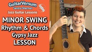 MINOR SWING Chords LESSON - Rhythm Guitar Tutorial Gypsy Jazz