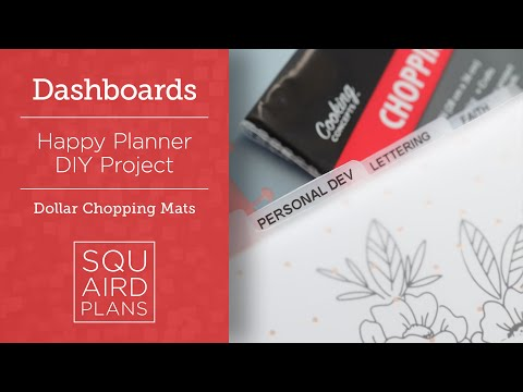 DIY $1 Store Dashboards :: Discbound Planner :: Happy Planner Classic