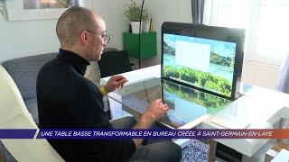 Yvelines | Un saint-germanois crée une table basse déployable en bureau spécial télétravail