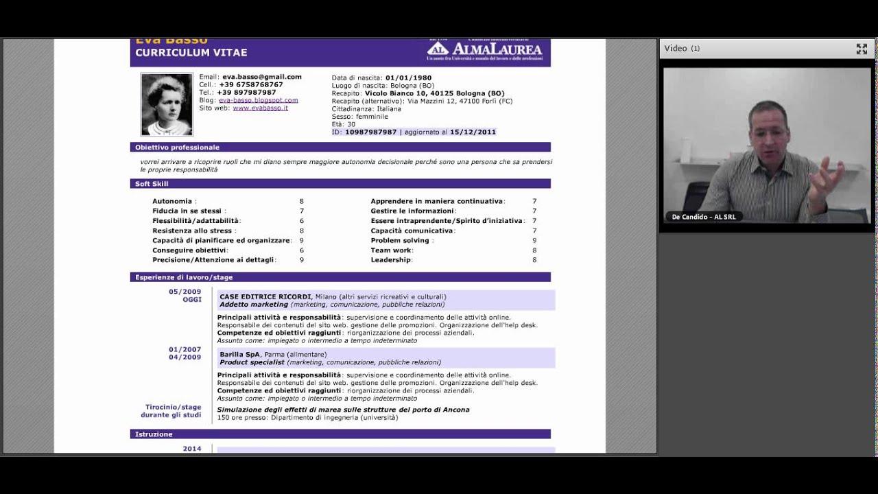 Il CV Del Dei Laureati Del Paese Webinar 01