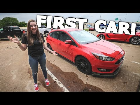 BUYING MY SISTER HER FIRST CAR!!