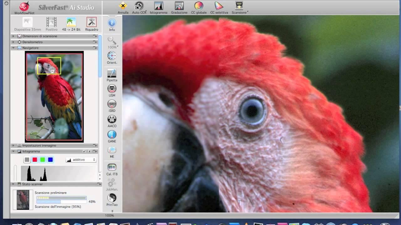 Plustek OpticFilm 120, scanner tutorial - parte seconda- impostazioni  manuali