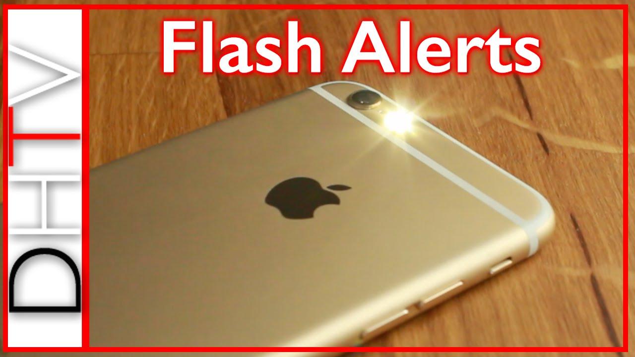 how to setup flash led alerts iphone 6s 6 5 4 simple tips youtube. Black Bedroom Furniture Sets. Home Design Ideas