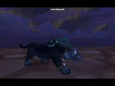 WoW 3.2 Night Elf Cat Form - YouTube