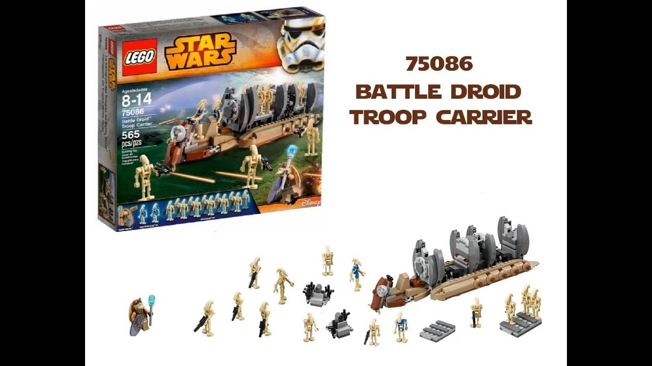 LEGO Star Wars 75086 Battle Droid Troop Carrier Review  YouTube