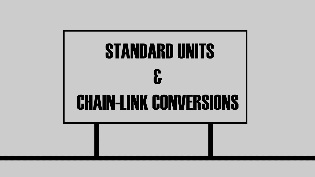 Standard units and chain link conversion youtube standard units and chain link conversion nvjuhfo Gallery