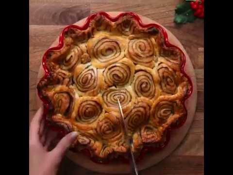Cinnamon Swirl Apple Pie Яблочный Пирог Корицевый