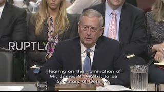 LIVE: US Senate to hold Defence confirmation hearing for General James 'Mad Dog' Mattis