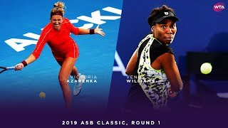 Venus Williams vs. Victoria Azarenka | 2019 ASB Classic First Round | WTA Highlights
