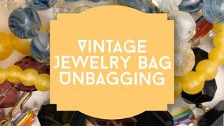 Vintage Jewelry Bag Unbagging