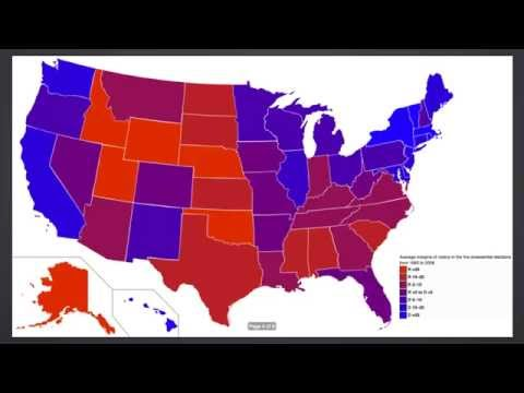 Red State, Blue State, is America actually Purple - the Power of Maps