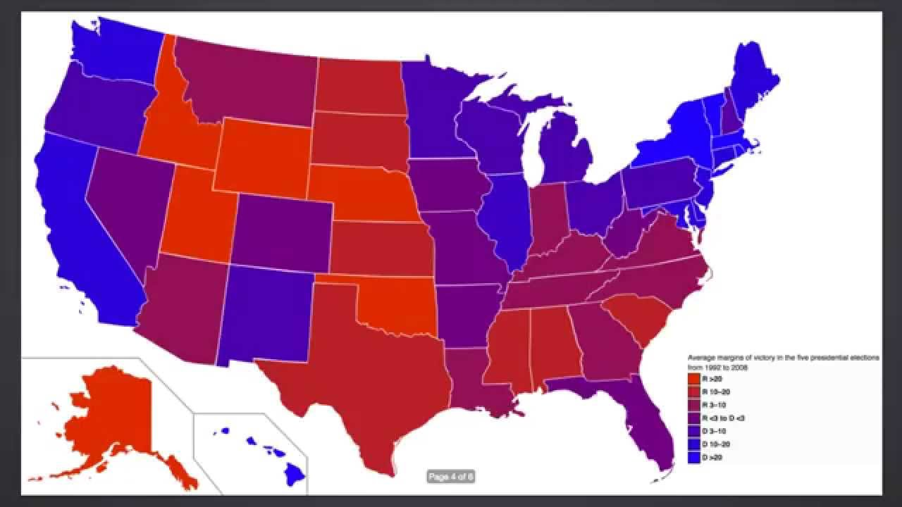 Map Of Red And Blue States Red State, Blue State, is America actually Purple   the Power of  Map Of Red And Blue States